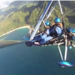 Trike flying over Kauai, Hawaii