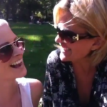 In Central Park, meeting co-creator Adrianna in New York City