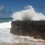 Secret Beach waves in Kauai