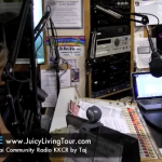 Radio interview in Kauai on Lilou's Juicy Living Tour